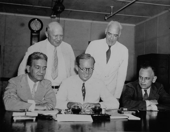 The first five commissioners to serve on the SEC after its creation in 1934.